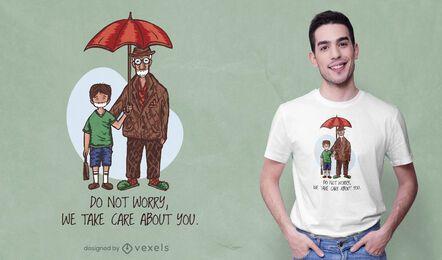 Diseño de camiseta abuelo y nieto.
