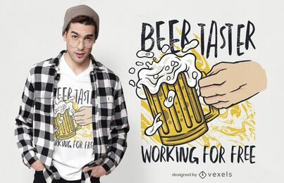 Diseño de camiseta de catador de cerveza.