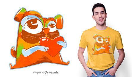 Colorful pug t-shirt design