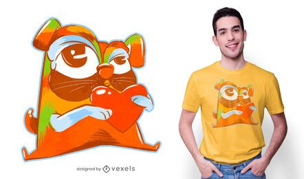 Design de camiseta pug colorida
