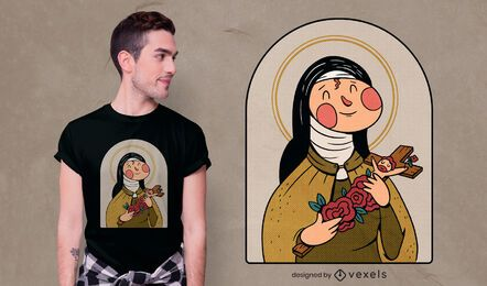 Saint teresa t-shirt design
