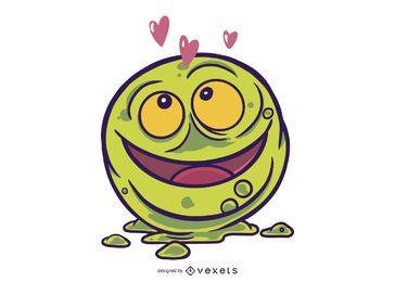Booger in love illustration design
