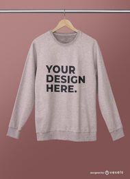 Hanged sweatshirt mockup psd design