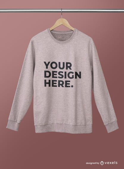 Hanged sweatshirt mockup psd design
