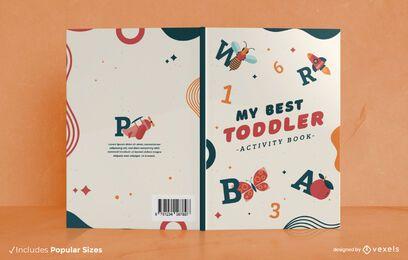Diseño de portada de libro de actividades para niños.