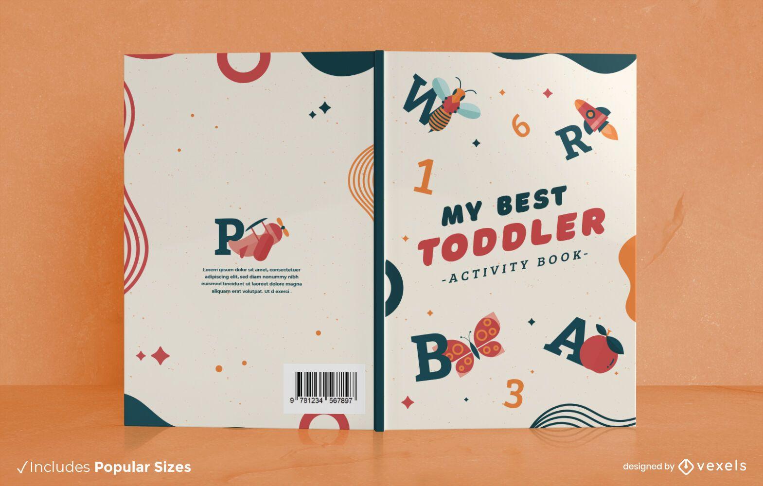 Children activity book cover design