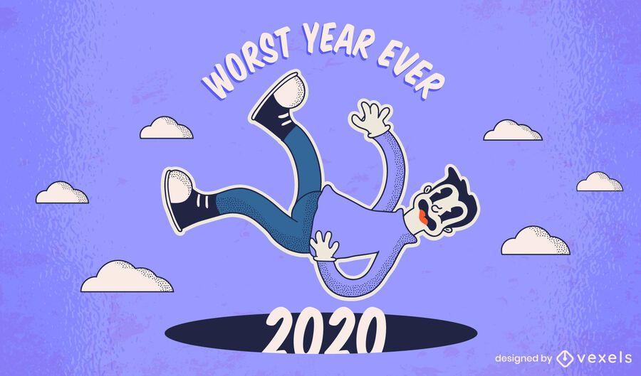 Worst year ever 2020 illustration design