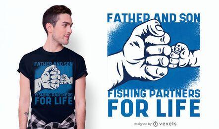 Design de camisetas de parceiros de pesca