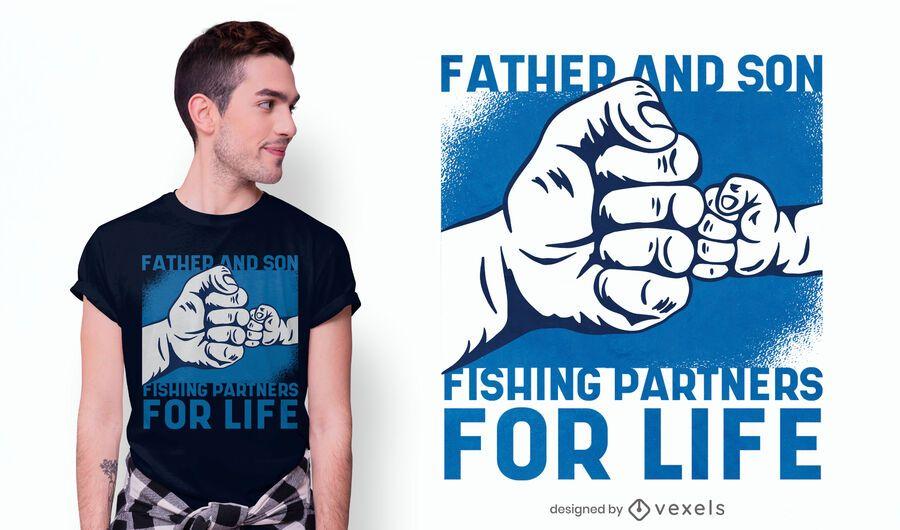 Fishing partners t-shirt design