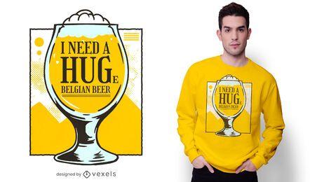 Design de camiseta de cerveja belga