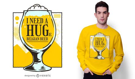 Diseño de camiseta de cerveza belga.