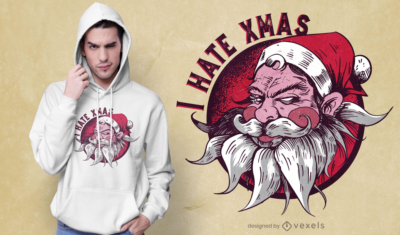 I hate xmas t-shirt design
