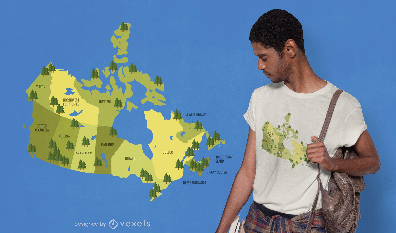 Canada national parks map t-shirt design