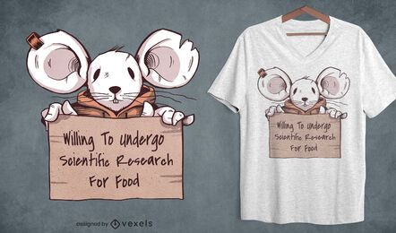 Mouse research t-shirt design
