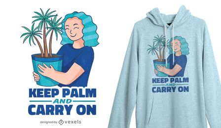 Halten Sie Palm T-Shirt Design