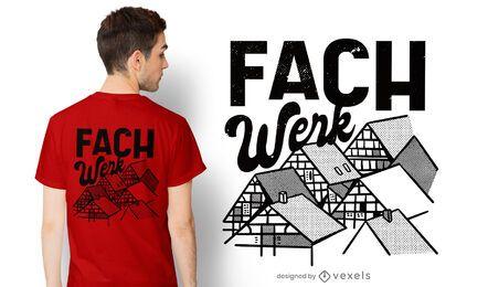 Fachwerk t-shirt design