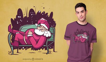 Sleeping santa claus t-shirt design