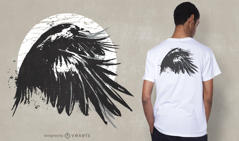Diseño de camiseta Ink Raven