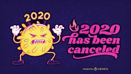 Diseño de ilustración cancelado 2020