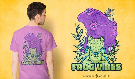 Diseño de camiseta Frog Vibes