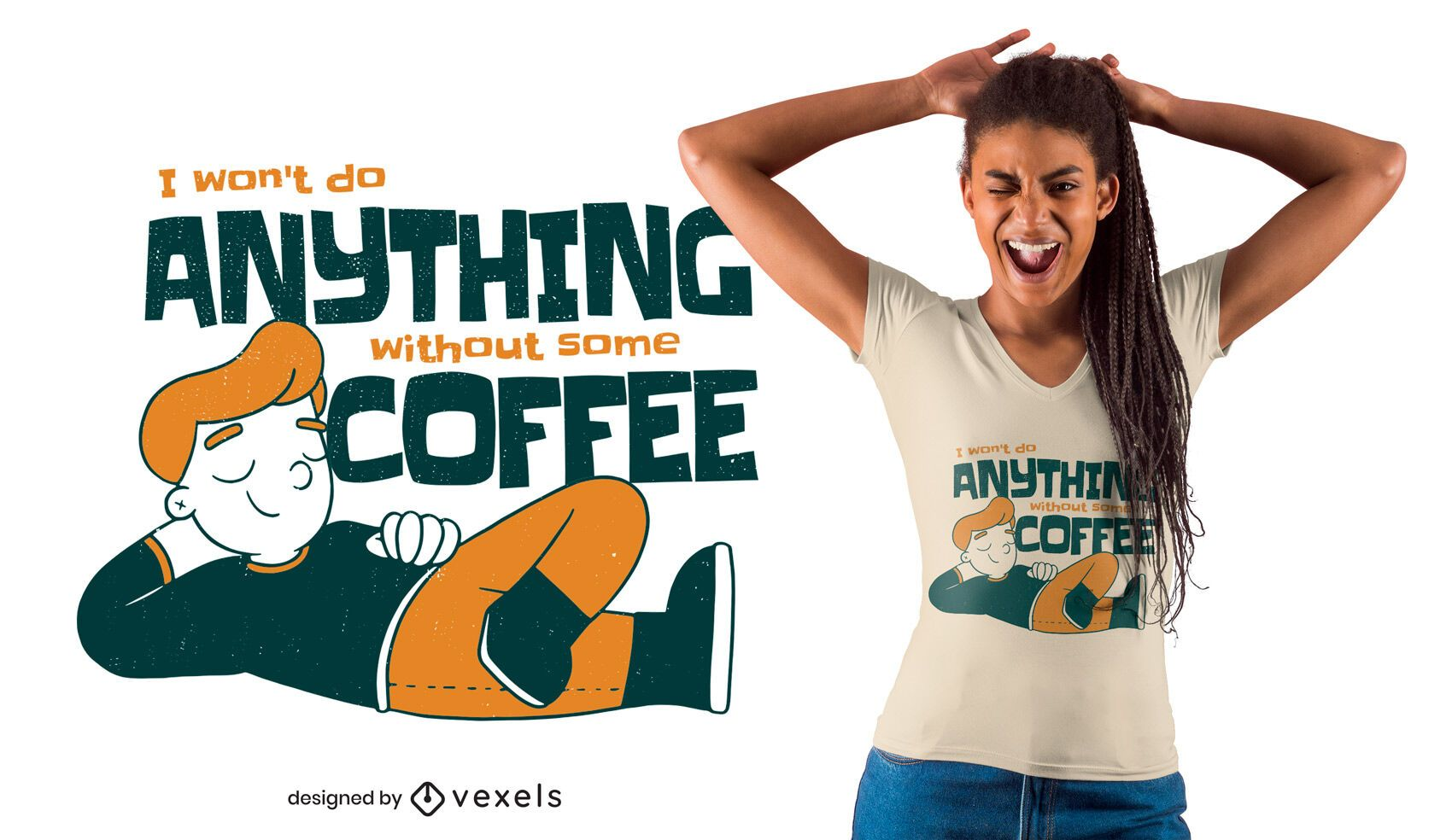 Nothing without coffee t-shirt design