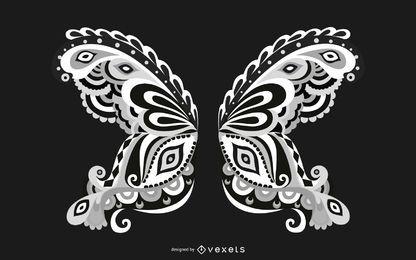 Vektor-Stammesflügel