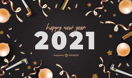 Design de plano de fundo para festa de ano novo 2021