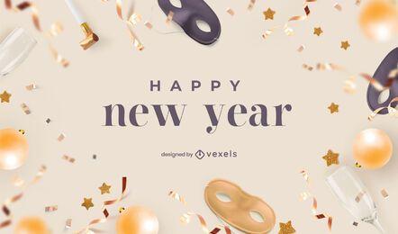 Desenho de fundo de celebração de ano novo