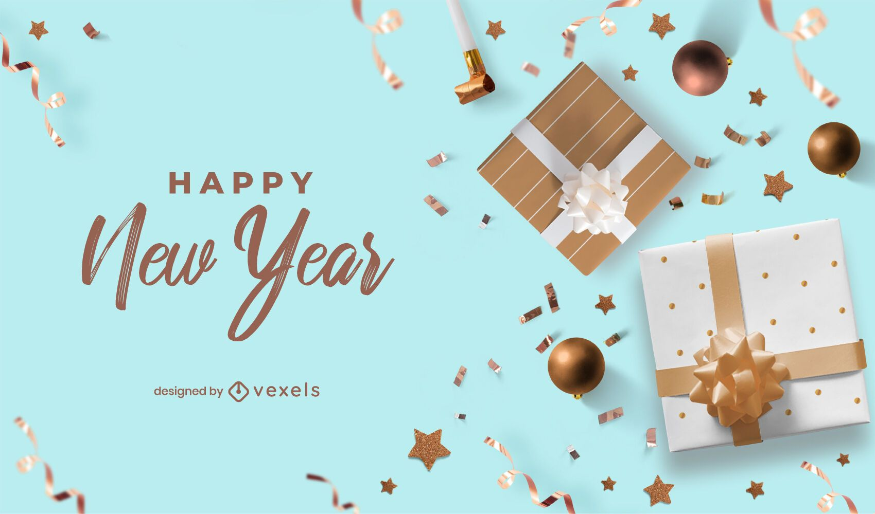 Happy new year party background design