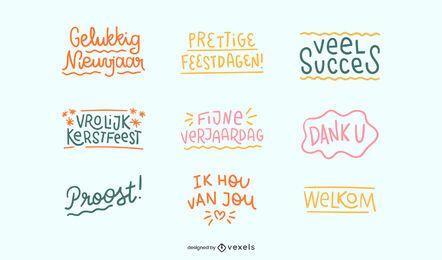 Conjunto de citas de celebración holandesa