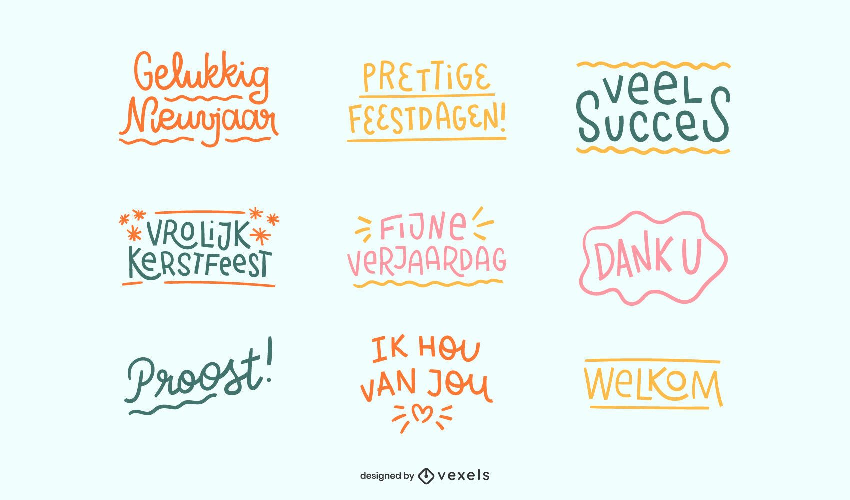 Conjunto de citas de celebraci?n holandesa