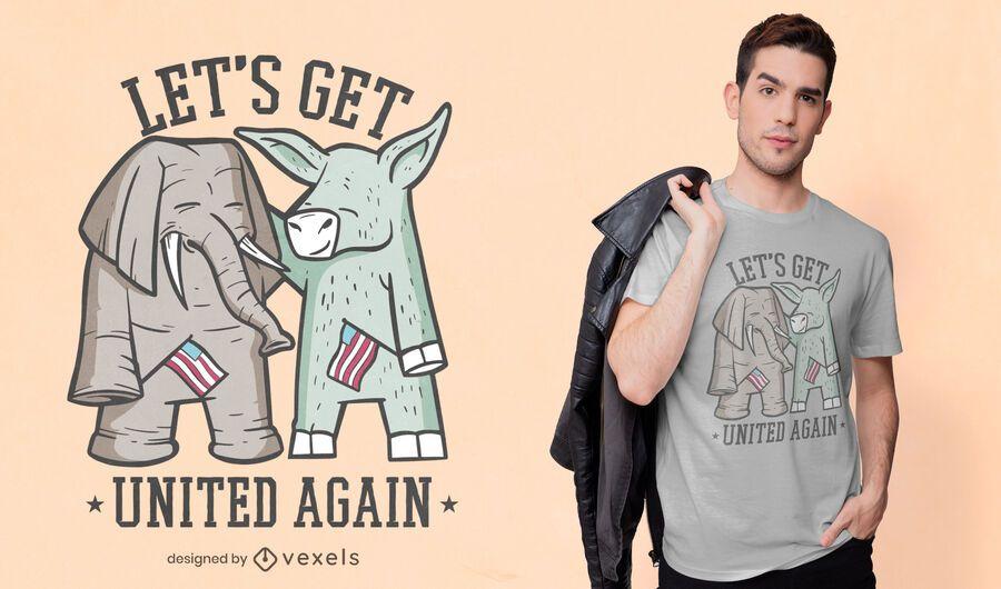 Elephant and donkey t-shirt design