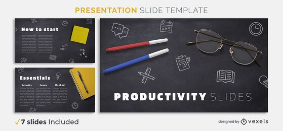 Modelo de apresentação de produtividade