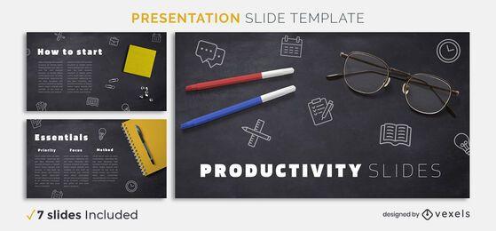 Plantilla de presentación de productividad