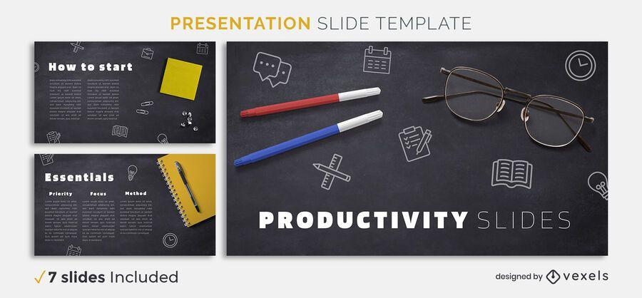 Productivity presentation template