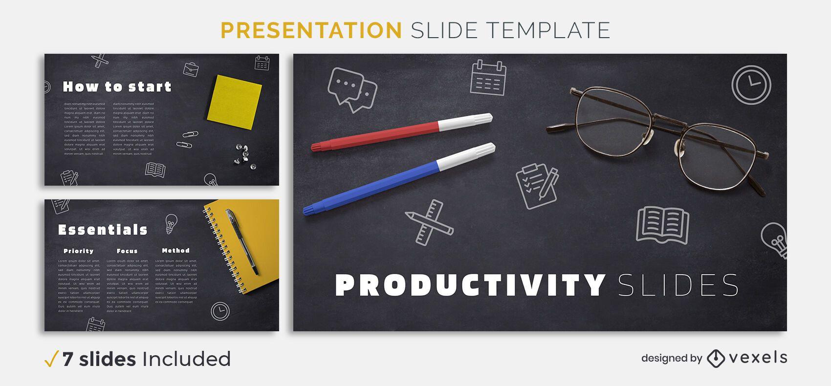 Vorlage für Produktivitätspräsentationen