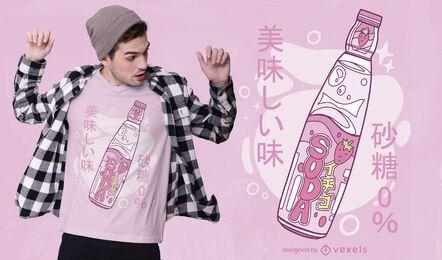 Design de camiseta japonesa com refrigerante