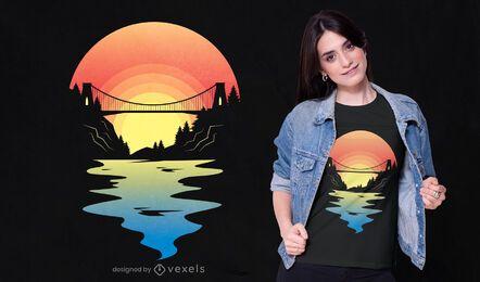 Diseño de camiseta del puente de bristol