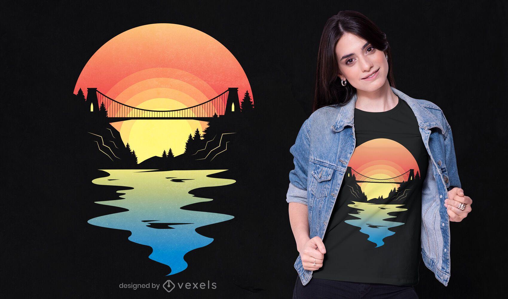 Bristol bridge t-shirt design