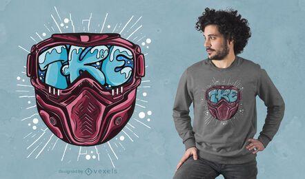 Design de camisetas com letras de máscara de esqui