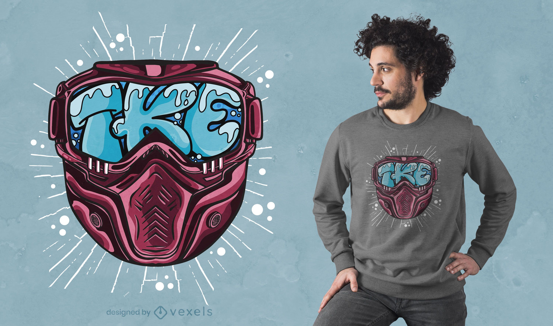 Ski mask letters t-shirt design