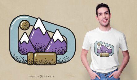 Design de t-shirt das montanhas Carabiner