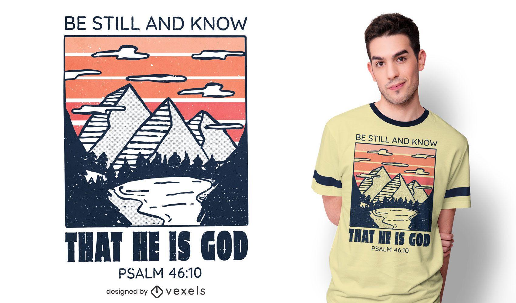 Dise?o de camiseta de monta?as de salmo