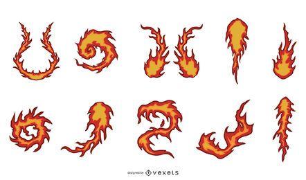 Diseño de escenografía de bola de fuego