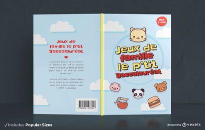 Design de capa de livro de jogos para família