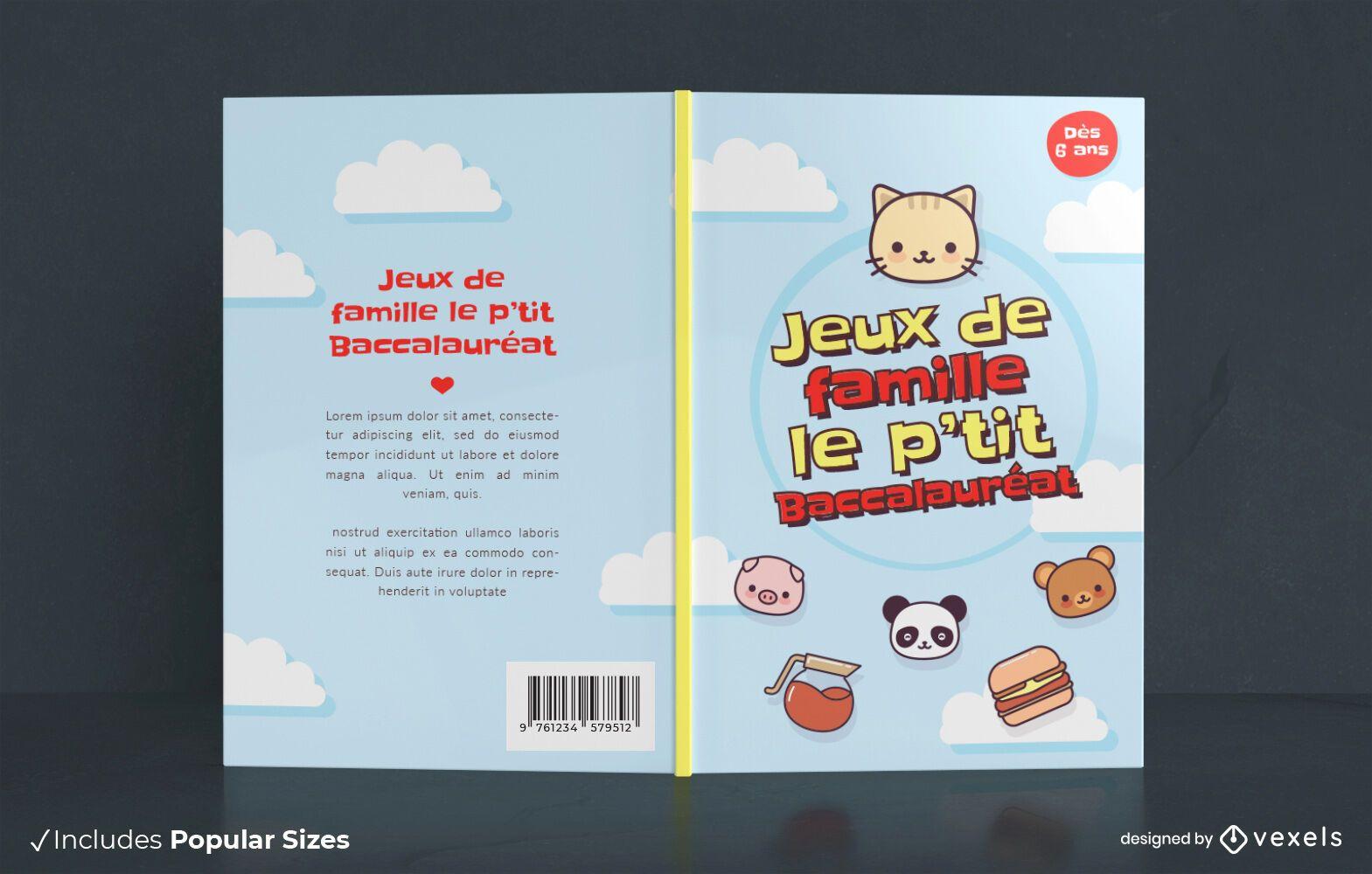 Diseño de portada de libro de juegos familiares
