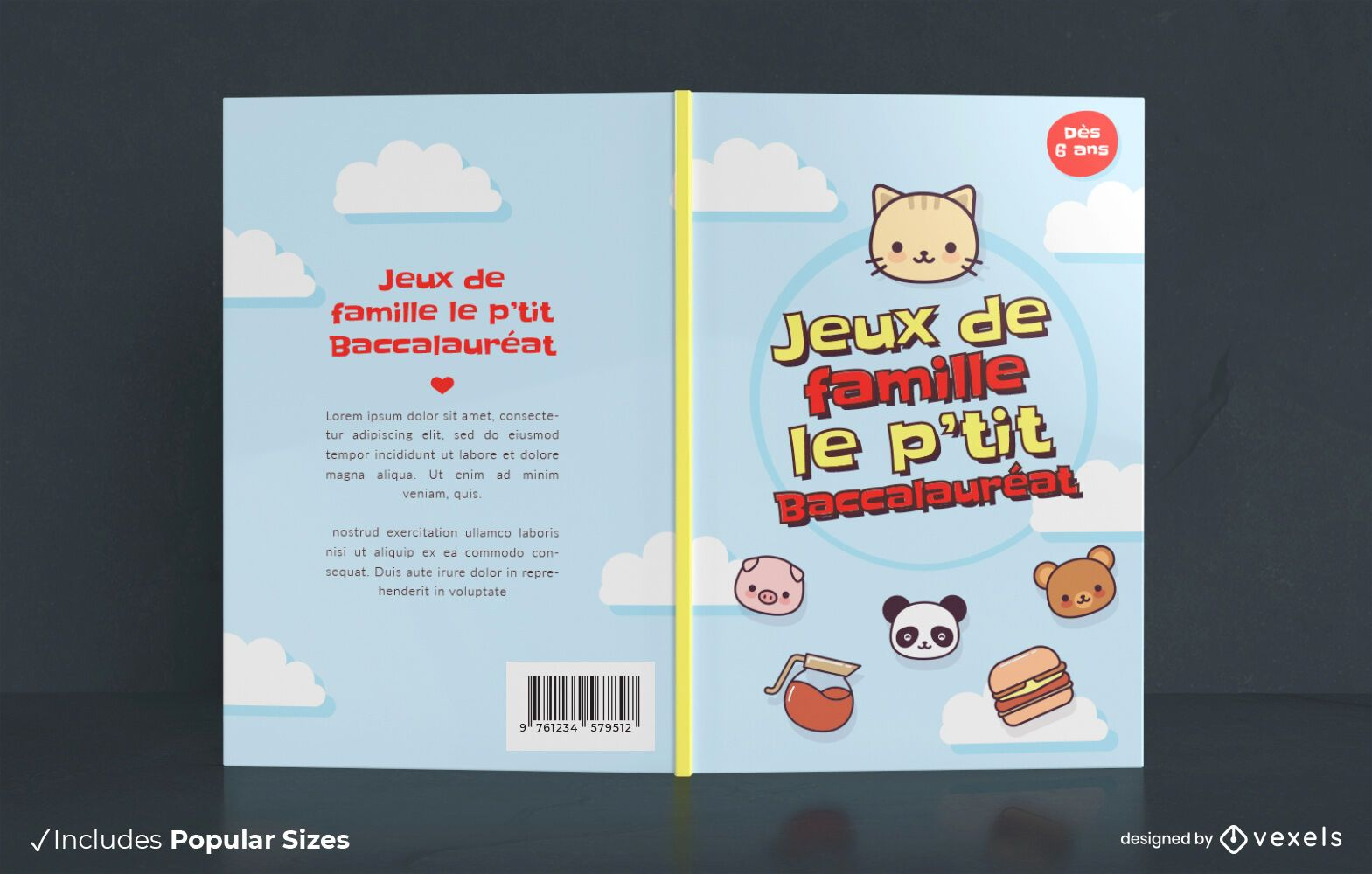 Family games book cover design