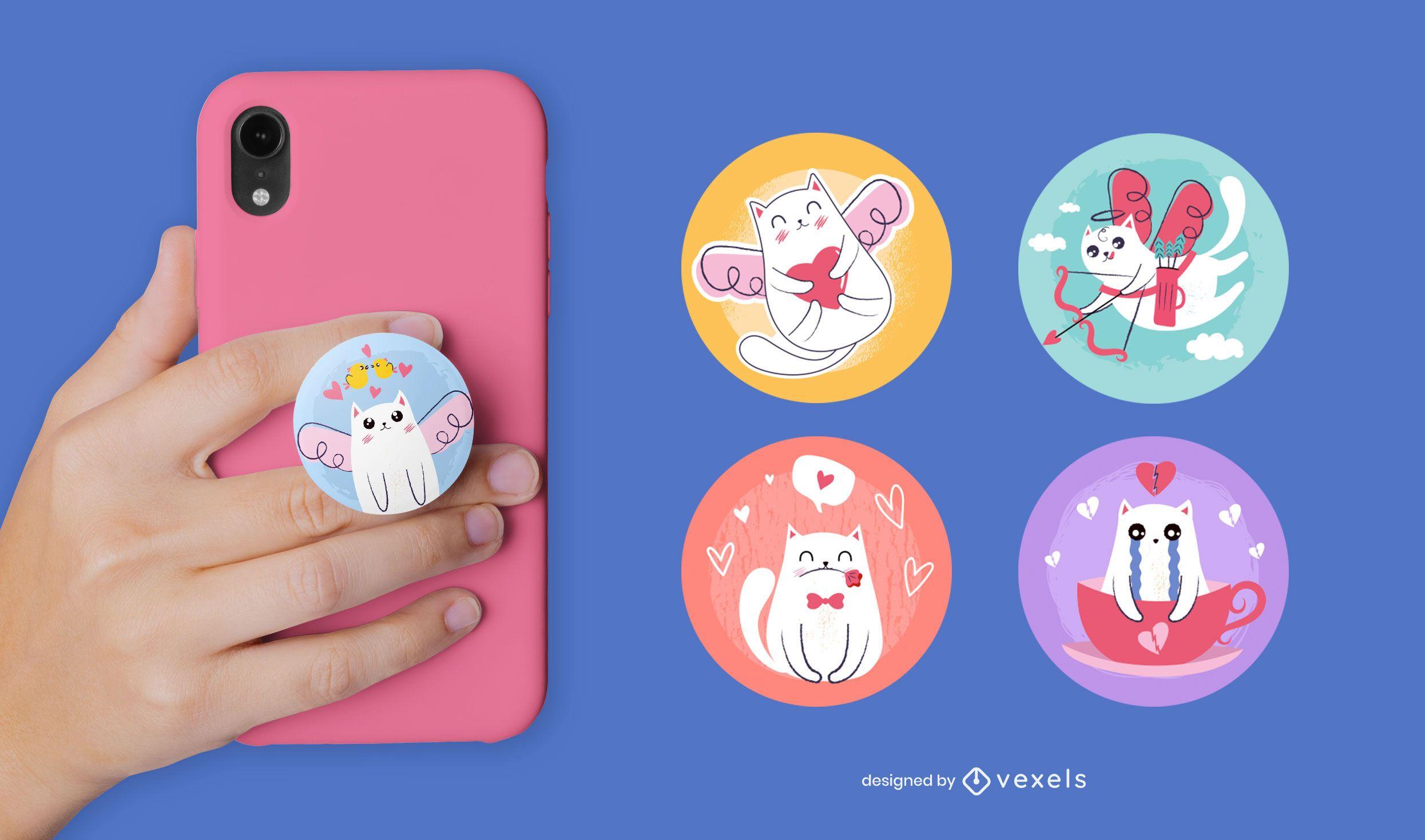 Cute cats popsocket set