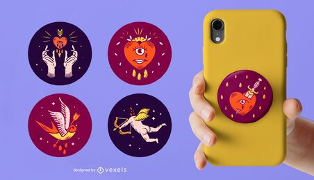 Valentine's day mystical popsocket set
