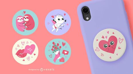 Valentine's day popsocket set